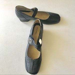 Josef Seibel Shoes - Josef Siebel MJ Black Shoes Silver Accents Size 42